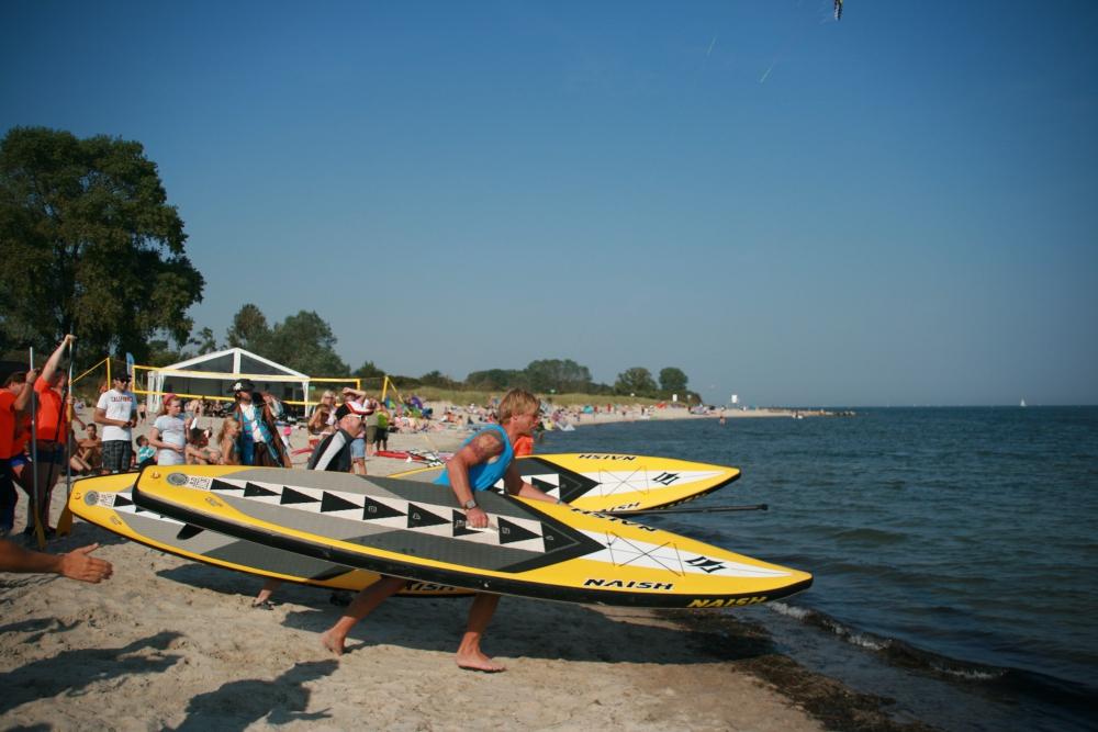 Junggesellenabschied am Strand - Start SuP Rennen