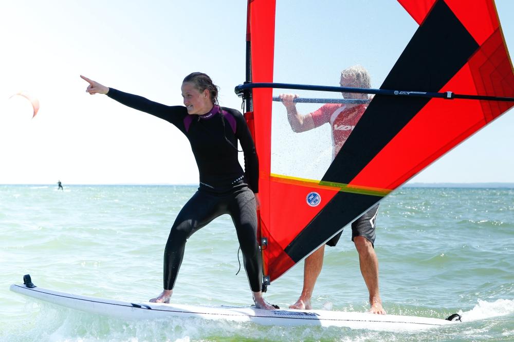Junggesellenabschied am Strand - Windsurfen